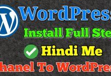 How To Install Wordpress In Cpanel In Hindi