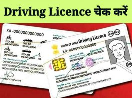 Driving Licence Check Kaise Kare