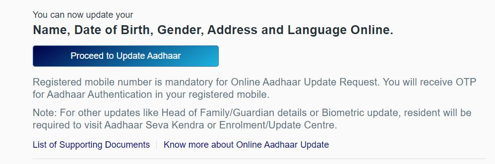 Aadhar Card Me Name, Date of Birth, Gender, Address Kaise Change Kare