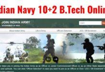 Indian Navy 10+2 B.Tech Online Form